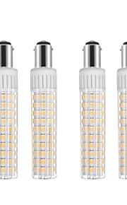 4pcs 8.5 W 1105 lm BA15D Bombillas LED de Mazorca T 125 Cuentas LED SMD 2835 Regulable Blanco Cálido / Blanco Fresco 110 V