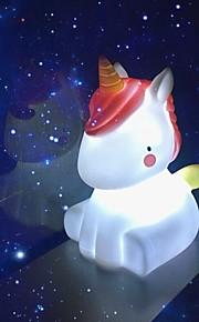 ضوء الليل الجدة أدى مصباح يونيكورن لطيف زينة شمعة هدايا عيد الميلاد عطلة عيد ميلاد ديكور غرفة النوم