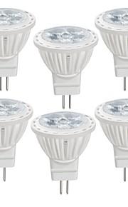 6pcs 4 W 350 lm MR11 Focos LED MR11 4 Cuentas LED SMD 2835 Blanco Cálido / Blanco Fresco 12 V