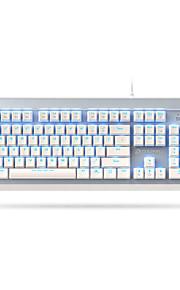 DAREU EK822 USB Ενσύρματο μηχανικό πληκτρολόγιο Φωτίζει Μηχανικά Μπλε φωτισμός 104 pcs Κλειδιά