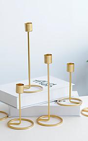 Σύγχρονη Σύγχρονη / Ευρωπαϊκό Στυλ Σίδερο Κηροπήγια Κηροπήγιο 2pcs, Κερί / Κερί