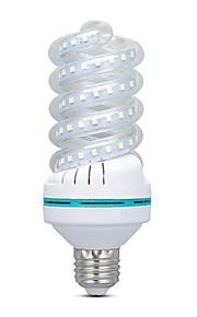 16 W LED Λάμπες Καλαμπόκι 1500 lm E26 / E27 80 LED χάντρες SMD 2835 Θερμό Λευκό Άσπρο 220-240 V, 1pc