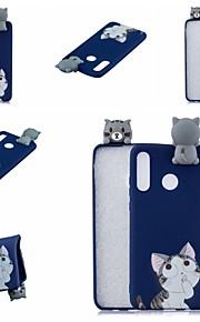 tok Για Huawei P20 lite / Huawei P30 Pro Με σχέδια Πίσω Κάλυμμα Γάτα / Κινούμενα σχέδια Μαλακή TPU για Huawei Nova 3i / Huawei P20 / Huawei P20 Pro