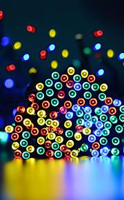 15 εκ Φώτα σε Κορδόνι 100 LEDs 1 Τοποθετήστε τη βάση στήριξης Θερμό Λευκό / Ψυχρό Λευκό / RGB Αδιάβροχη / Ηλιακής Ενέργειας / Πάρτι Încărcare Solară 1set