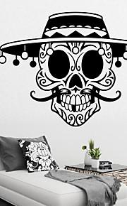 μακρύ γενειάδα καπέλο πειρατικό αυτοκόλλητο τοίχο το κρανίο διακοσμητικά τέχνη ταπετσαρία αποκριών