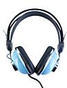 Kanen KM-740 Stylish Stereo Headphones (Blue)