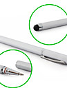 Touchscreen Writing Stylus with Ball Pen for iPad, iPhone, Playbook, Xoom and P1000 (Silver)