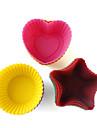DIY выпечки силиконовые торт / булочки / кекс / мыло чашки формы (15-упаковка)