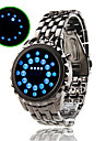 Blue LED Mirror Face Wrist Watch Cool Watch Unique Watch