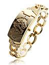 moda liga de ouro padrão de dragão pulseira relógio de quartzo das mulheres