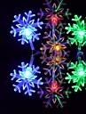 6M 3W 32-LED Colorful Light Snowflake-Shaped String Fairy Lamp (110/220V)