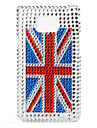 Fashionable Protective Hard Case with Crystal for Samsung i9100