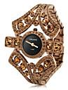 czekh 다이아몬드 (갈색)과 여성의 합금 아날로그 석영 팔찌 시계