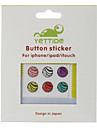 autocollant bouton home pour iphone, ipad et ipod (6 pack, rayures)