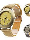 unissex pu analógico relógio de pulso de quartzo (cores sortidas)