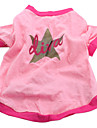 Dog Shirt / T-Shirt Dog Clothes Breathable Casual/Daily Stars Pink Costume For Pets