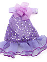 Tinsel Trimmed Skirt for Dogs (XS-XXL, Purple)