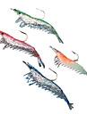 4 pcs Soft Bait Lure kits Fishing Lures Craws / Shrimp Lure Packs Soft Bait Silicon Sea Fishing Freshwater Fishing Bass Fishing