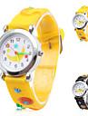 dessin animé lune de silicone analogique montre-bracelet à quartz (couleurs assorties)