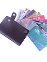 soporte de caja de tarjeta de bolsa de cuero de la colada (color al azar)