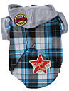 Dog Shirt / T-Shirt Hoodie Dog Clothes Fashion Plaid/Check Blue Costume For Pets