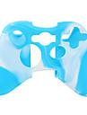 Защитный силиконовый чехол для джойстика Xbox 360 (белый и синий)