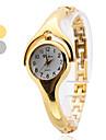 아가씨들 패션 시계 팔찌 시계 석영 밴드 뱅글 우아한 실버 골드