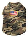 Боевая дизайн войск футболка для собак (XS-XL)