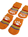 Dog Socks Casual/Daily Keep Warm Stripe Orange Green Blue Pink For Pets