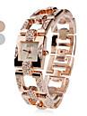 여성의 철강 아날로그 석영 손목 시계 (여러 색)