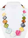 colar de búzios colorido losango para as mulheres (multi-color)