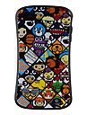 Cartoon Pattern Silicone Case for iPhone 4 and 4S (Multi-Color)