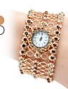 Жен. Наручные часы Часы-браслет Модные часы Японский Кварцевый Имитация Алмазный Группа Блестящие Богемные Elegant Серебристый металл