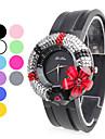 Women's Rubber Analog Quartz Wrist Watch (Assorted Colors)
