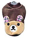 Coral Velvet Прекрасная рубашка Стиль Медведя для собак (XS-XL)