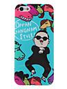 Gangnam estilo psy estojo rígido padrão legal para o iphone 5/5s