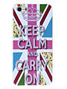 Для Кейс для iPhone 5 С узором Кейс для Задняя крышка Кейс для Слова / выражения Твердый PC iPhone SE/5s/5