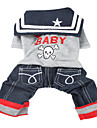 Dog Clothes/Jumpsuit Gray Dog Clothes Winter Spring/Fall Skulls Cowboy Fashion