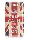 Retro Style UK National Flag Pattern Hard Case for Samsung Galaxy Note 2 N7100