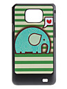 Flash Design Cute Elephant Pattern Hard Case for Samsung Galaxy S2 I9100