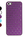 Lattice Pattern Hard Case with Shining Rhinestone for iPhone 5 (Assorted Colors)