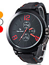 V6® Men's Casual Style Silicone Analog Quartz Wrist Watch (Black) Cool Watch Unique Watch