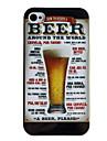 Пиво Стиль Защитный чехол Назад для iPhone 4/4S