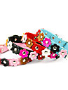 Dog Collar Adjustable / Retractable Flower PU Leather