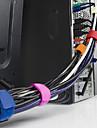 10pcs καλωδίων διοργανωτής περιτύλιξης καλωδίου αναδίπλωση γραμμής βύσμα ακουστικών κάτοχος σφενδονίτων μπομπίνα κλιπ