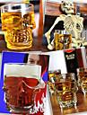 Crystal Skull Shaped Beer Glass Glassware