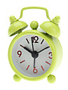 "2"" Round Twin Bells Mini Analog Alarm Clock (1xButton Battery, Assorted Colors)"