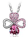 Eruner®Crystal & Diamond Studded Clover Necklace