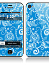 Blue Front flor e do Full Back Etiquetas para iPhone 5