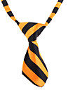 Cat / Dog Tie/Bow Tie Orange / White Dog Clothes Spring/Fall Wedding